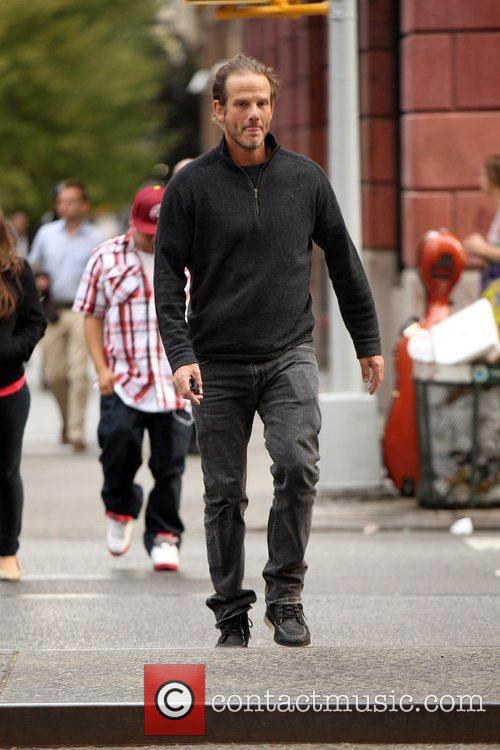 Peter Berg arrives at his Manhattan Hotel New...