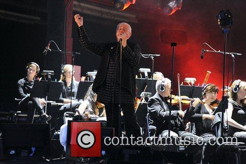 Peter Gabriel performs on stage at the Molson...