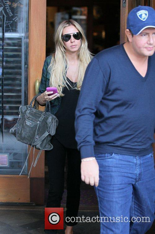 Petra Ecclestone and James Stunt  leaving Spago...