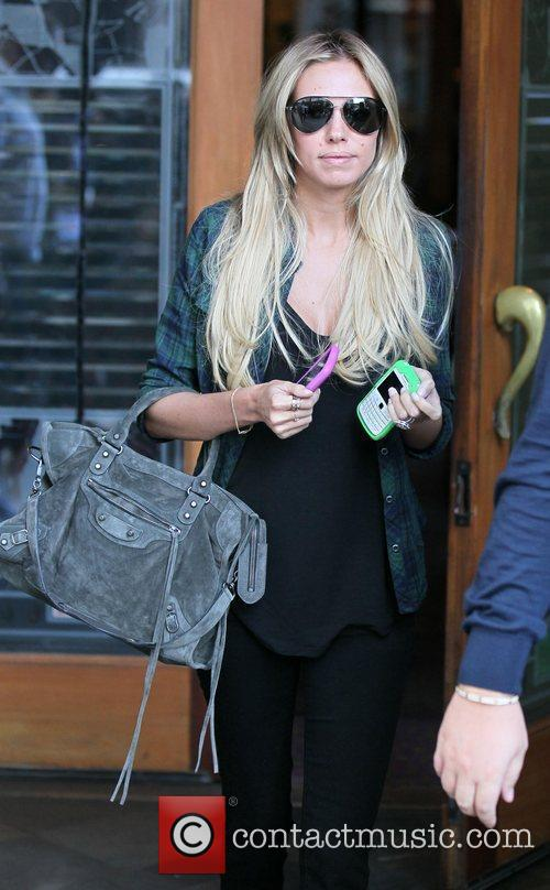 Petra Ecclestone  leaving Spago Restaurant in Beverly...