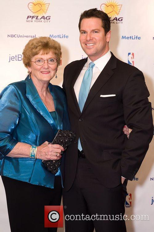 Thomas Roberts, MSNBC news anchor with his mother...