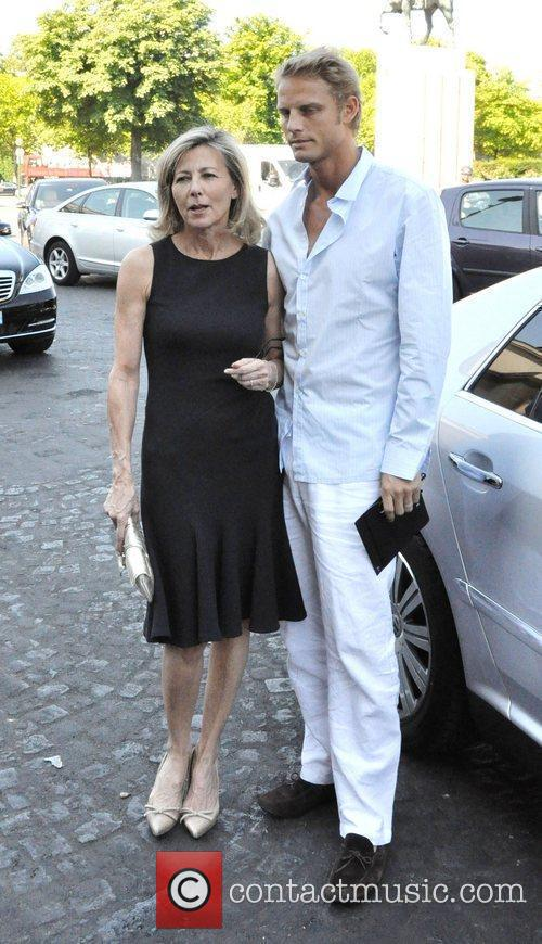 Claire Chazal and Arnaud Lemaire Paris Fashion Week...