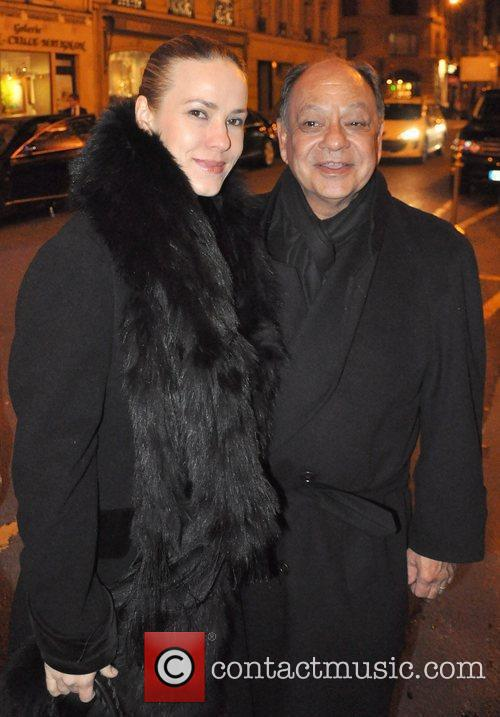 Cheech Marin leaving the 'Le Bristol' hotel with...