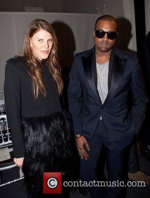 Anna Della Russo and Kanye West Paris Fashion...