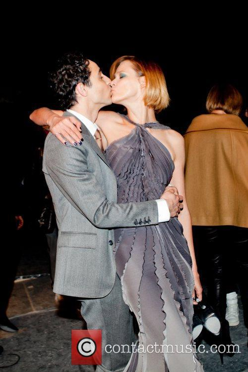 Zac Posen and Carmen Kass Paris Fashion Week...