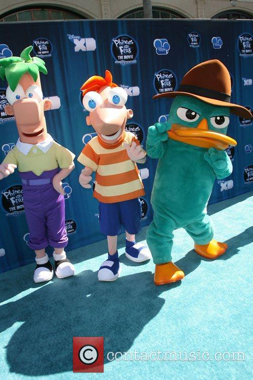 Ferb, Phineas and Perry the Platypus Hollywood Premiere...