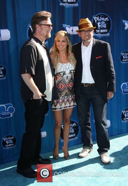 Producer Dan Povenmire, actress Ashley Tisdale, and creator...