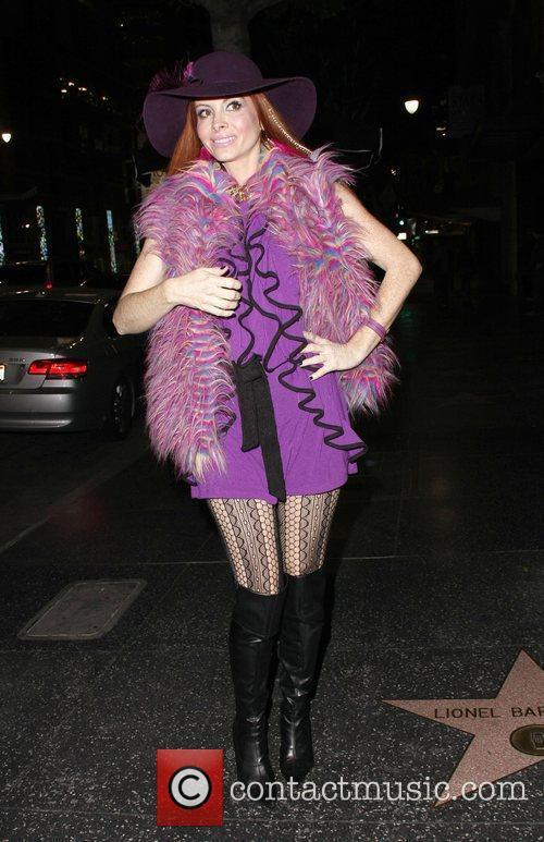 Phoebe Price leaves Katsuya restaurant in Hollywood Los...
