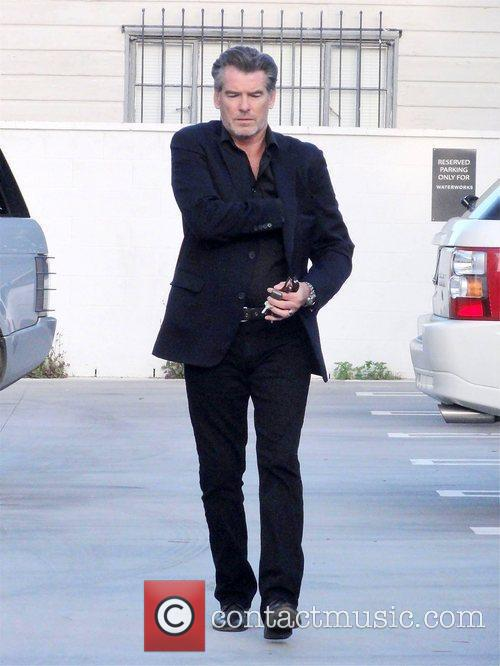 Pierce Brosnan in West Hollywood Los Angeles, California