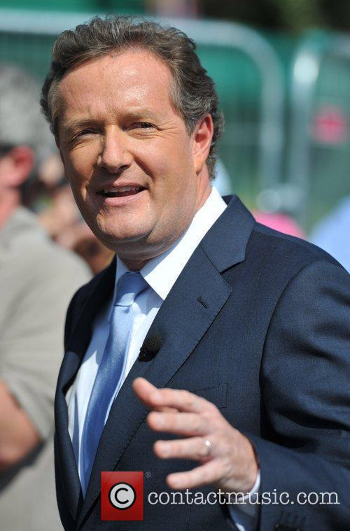 Piers Morgan is seen making a television programme...