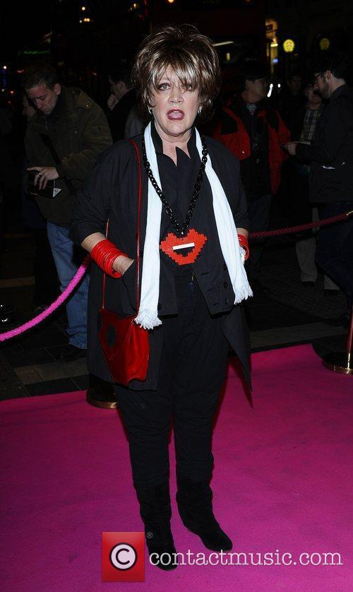 Amanda Barrie,  at the press night for...