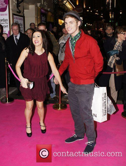 Kieron Richardson and Guest at the press night...