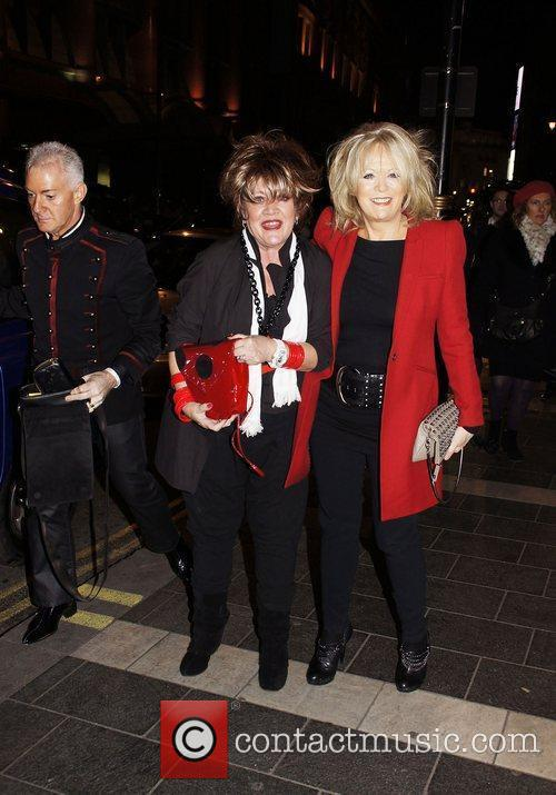 Sherrie Hewson and Amanda Barrie Press night for...
