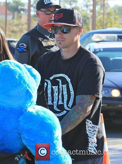 Carey Hart  enjoying a family day out...
