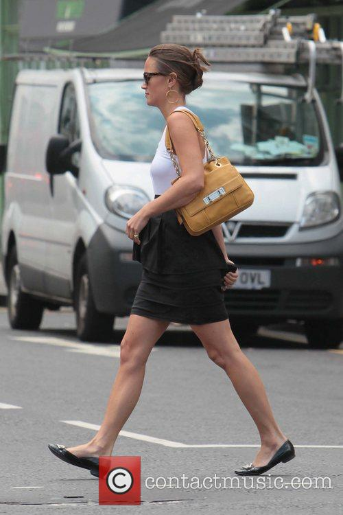 Pippa Middleton  spotted near her work office...