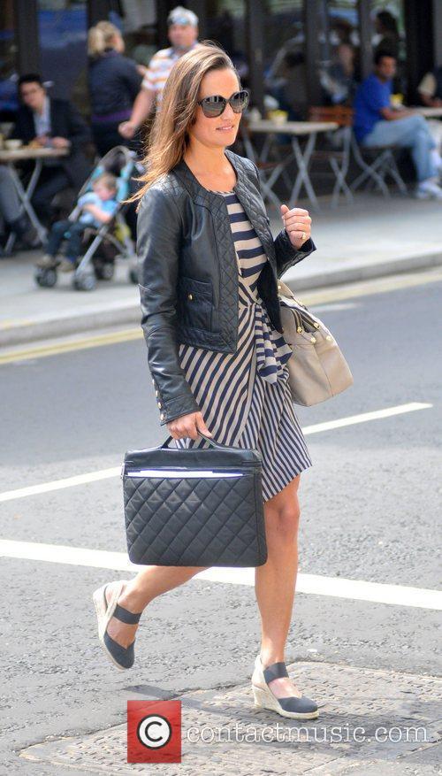 Pippa Middleton is seen walking to work wearing...