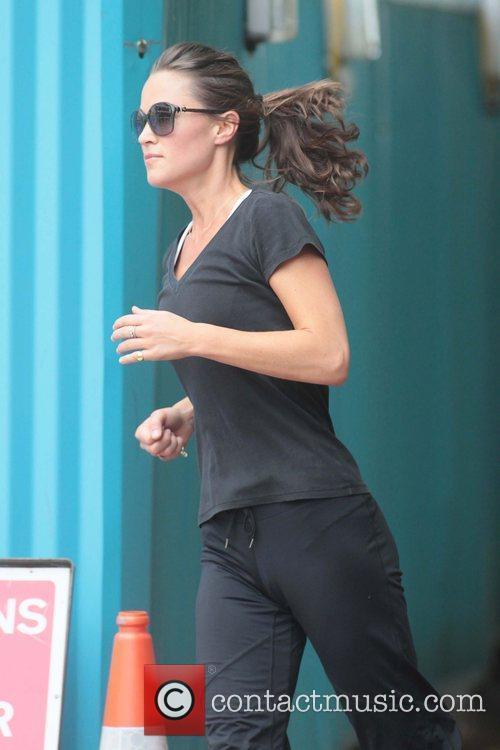 Pippa Middleton  on her morning run London,...