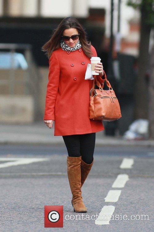 Pippa Middleton makes her way to work London,...