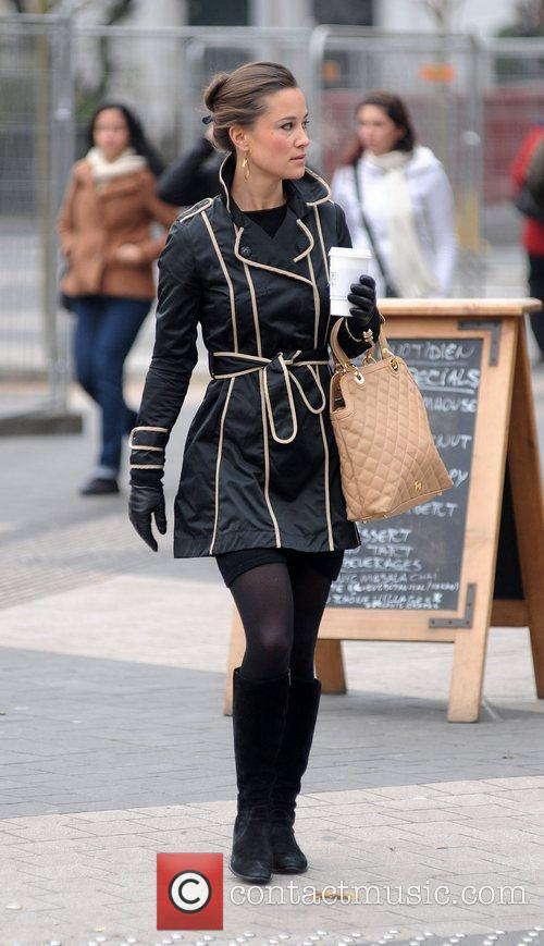 Pippa Middleton heading to work in west London...