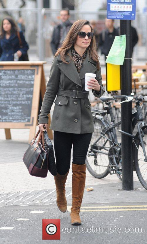 Pippa Middleton makes her way to work London,...
