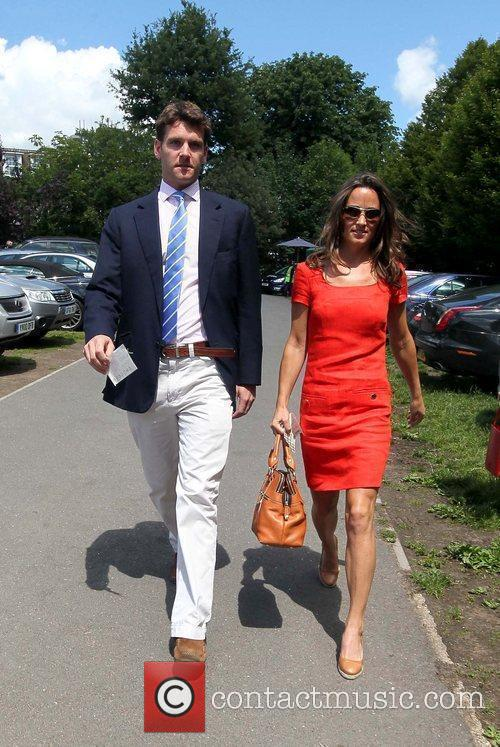 Pippa Middleton and Alex Loudon arriving at Wimbledon...