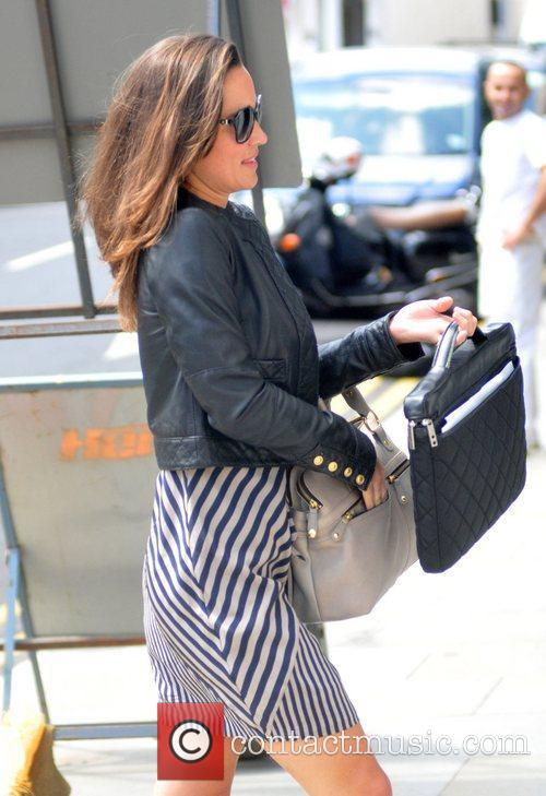 Pippa Middleton is seen walking to work wearing...