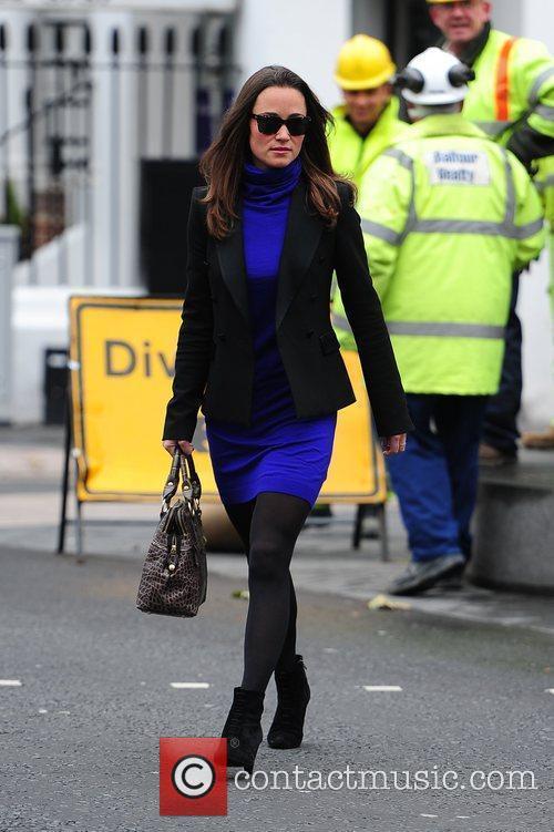 Pippa Middleton  walking to work in West...