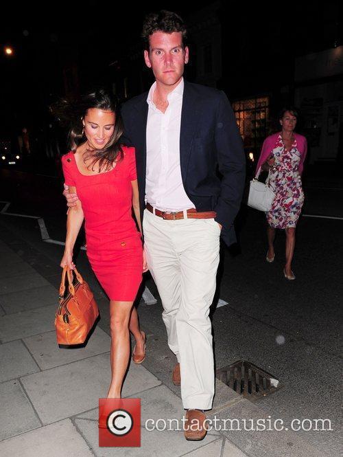 Pippa Middleton and Alex Loudon leaving Megans restaurant...
