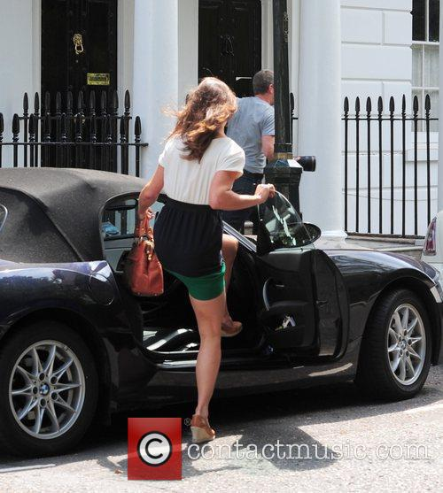 Pippa Middleton getting into her BMW car in...