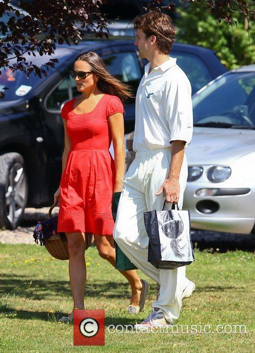 Pippa Middleton  watches her boyfriend Alex Loudon...