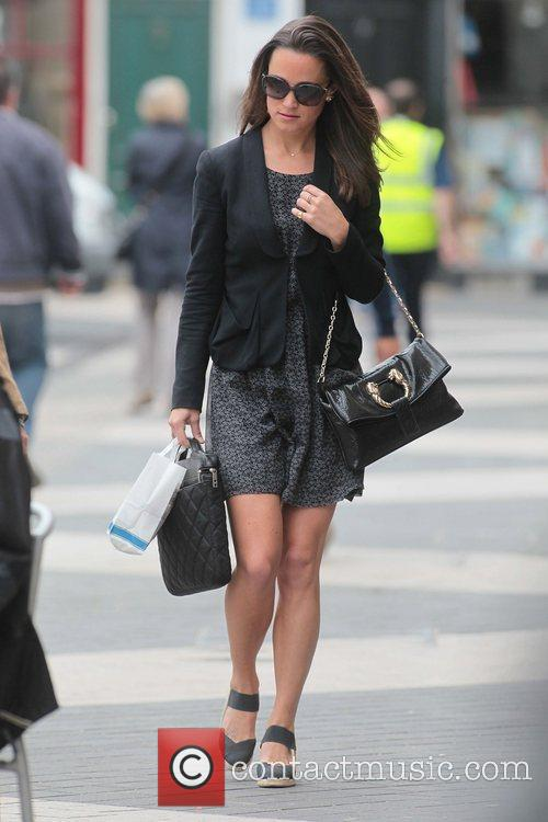 Pippa Middleton on her way to work London,...