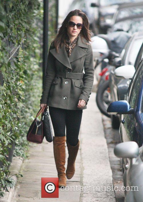 Pippa Middleton makes her way to work