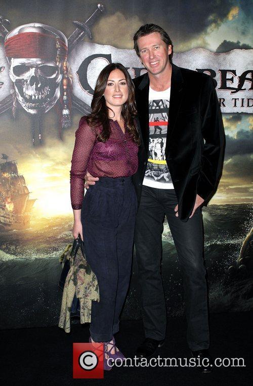 Glenn McGrath and Sara Leonardi The Australian premiere...