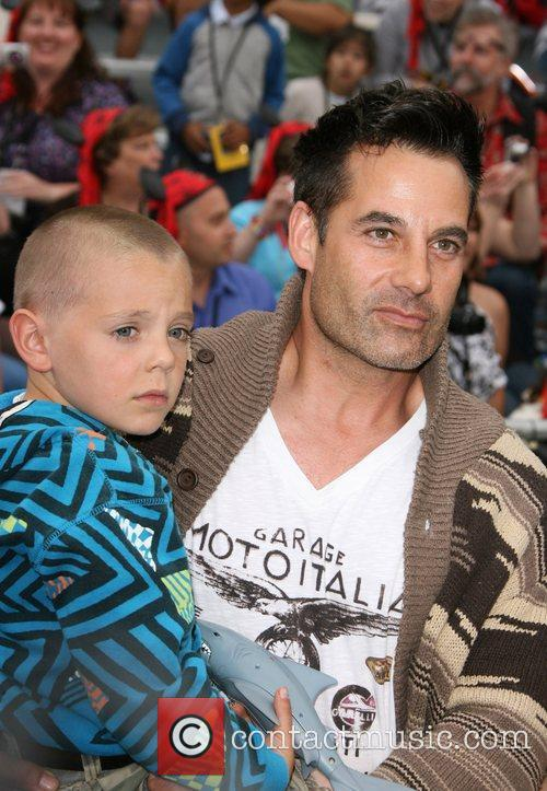 Adrian Pasdar and son 'Pirates Of The Caribbean:...