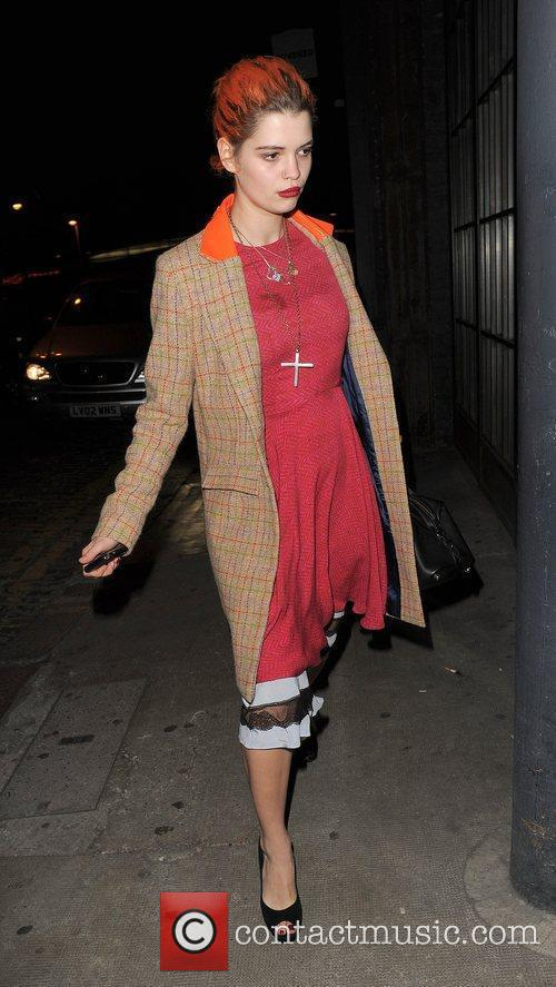 Pixie Geldof and a male companion spend the...