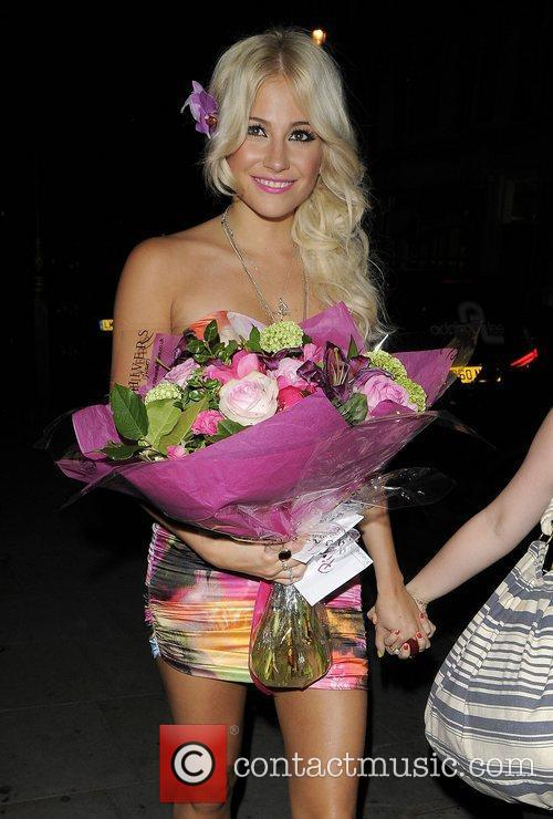 Pixie Lott arriving at her hotel. London, England