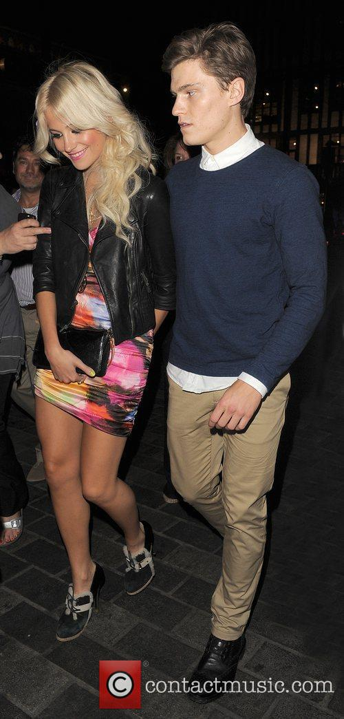 Pixie Lott enjoys a night out in the...