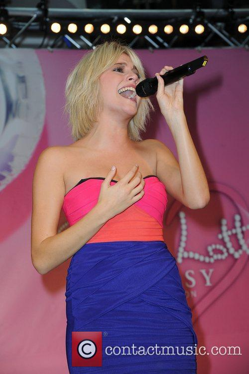 Pixie Lott  performs after unveils her Autumn/Winter...