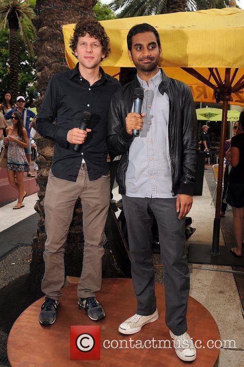 Jesse Eisenberg and Aziz Ansari 8