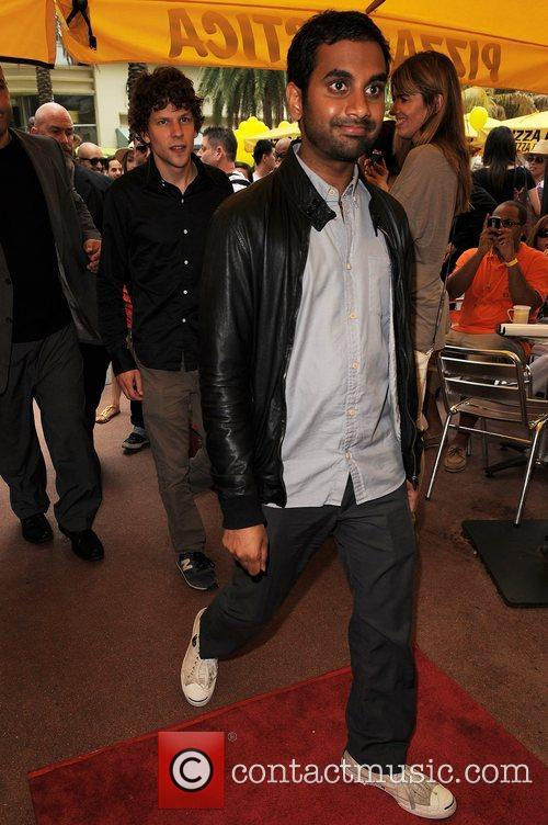 Jesse Eisenberg and Aziz Ansari 2