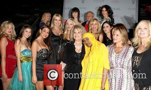 Hugh Hefner and Playmates 10