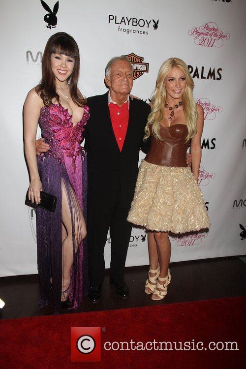 Hugh Hefner and Crystal Harris 1