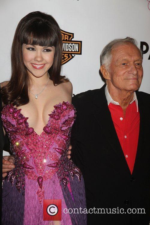Hugh Hefner - Playboy's Playmate of the Year 2011 at Moon ...