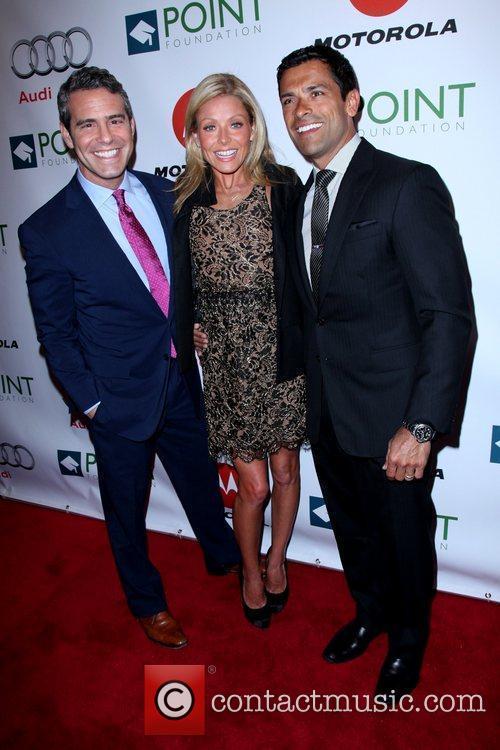 Andy Cohen, Kelly Ripa and Mark Consuelos The...