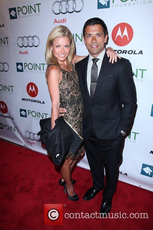 Kelly Ripa and Mark Consuelos The Point Foundation's...