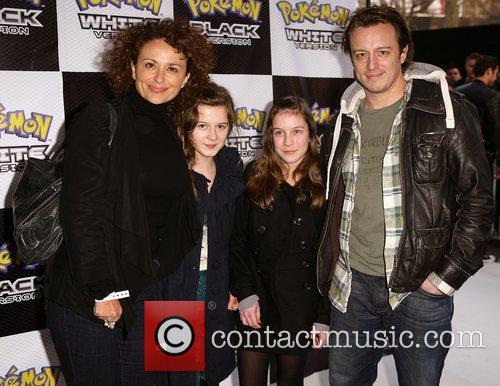 Nadia Sawalha and Family Pokemon Black and White...