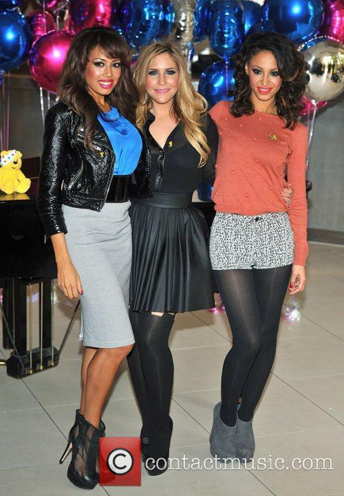 Jade Ewen, Heidi Range and Amelle Berrabah of...