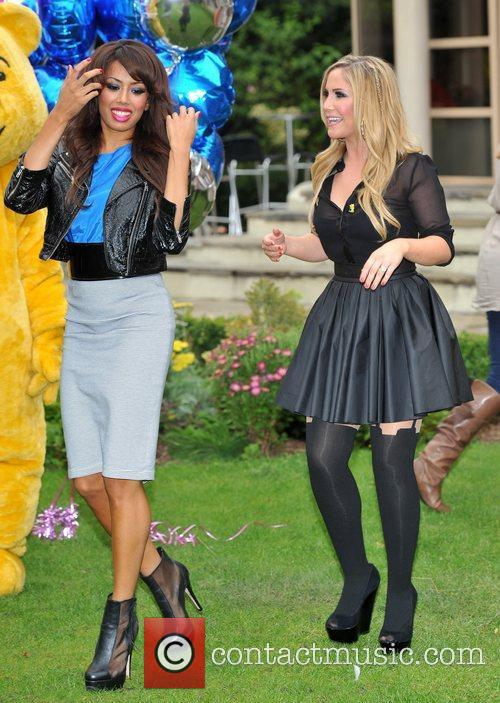 Jade Ewan and Heidi Range of the Sugababes...