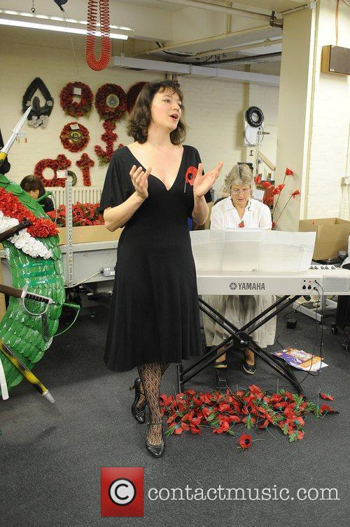 Patricia Hammond performing for the workers at the...