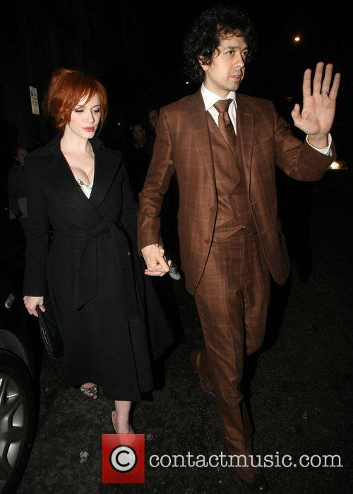 Christina Hendricks Celebrities arrive at Automat restaurant to...
